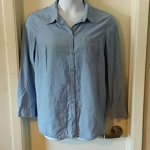 Faded Glory Chambray button down shirt